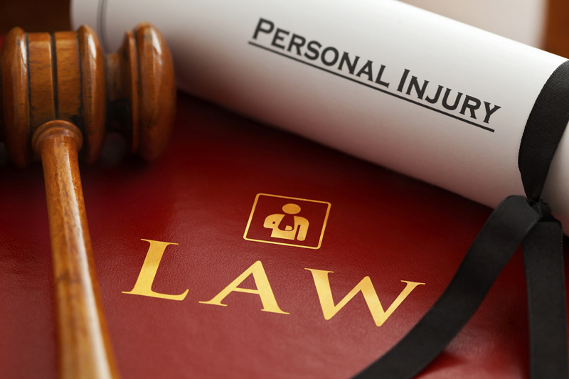 personal injury law and gavel
